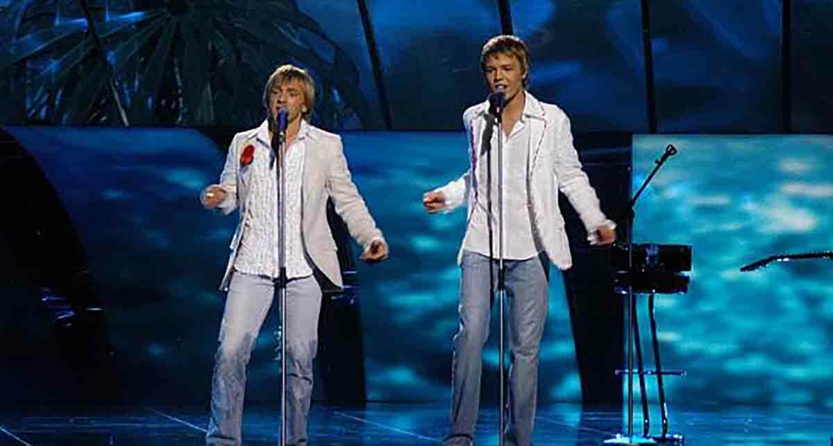 """Дуэт """"Walters and Kazha"""": участники Евровидения 2005 года из Латвии"""
